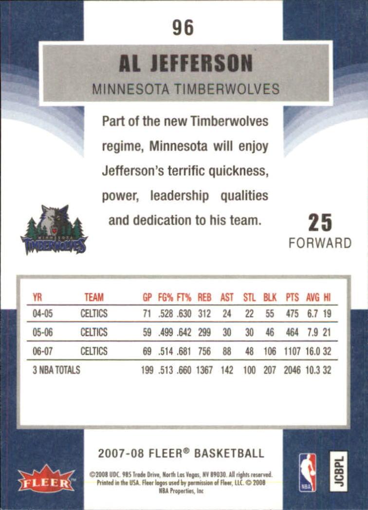2007-08-Fleer-Basketball-1-250-Your-Choice-GOTBASEBALLCARDS thumbnail 175