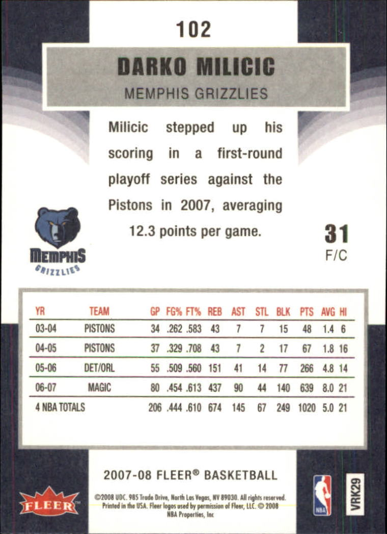 2007-08-Fleer-Basketball-1-250-Your-Choice-GOTBASEBALLCARDS thumbnail 185