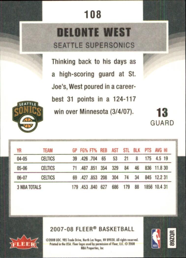 2007-08-Fleer-Basketball-1-250-Your-Choice-GOTBASEBALLCARDS thumbnail 195