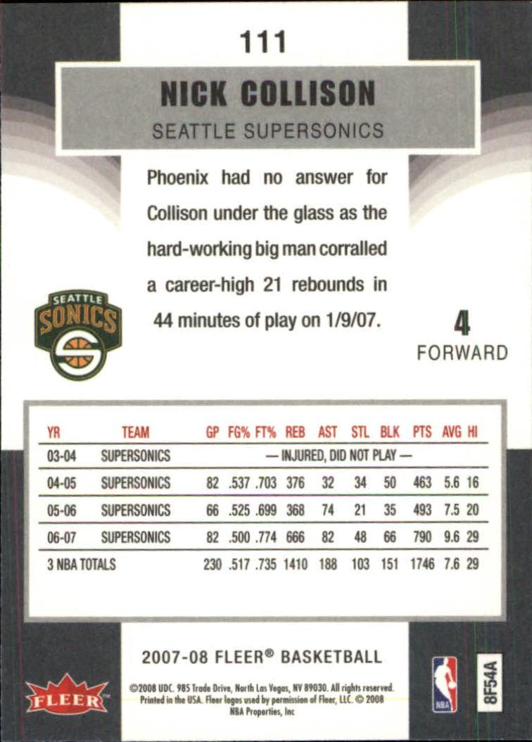 2007-08-Fleer-Basketball-1-250-Your-Choice-GOTBASEBALLCARDS thumbnail 199