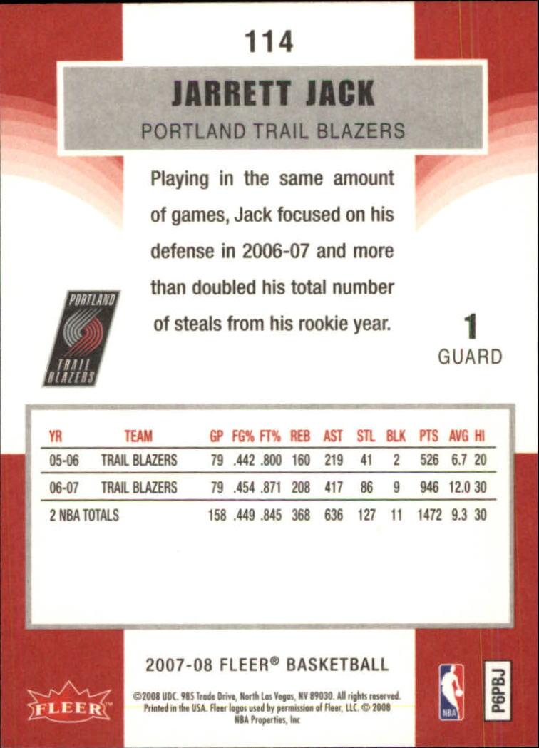 2007-08-Fleer-Basketball-1-250-Your-Choice-GOTBASEBALLCARDS thumbnail 205