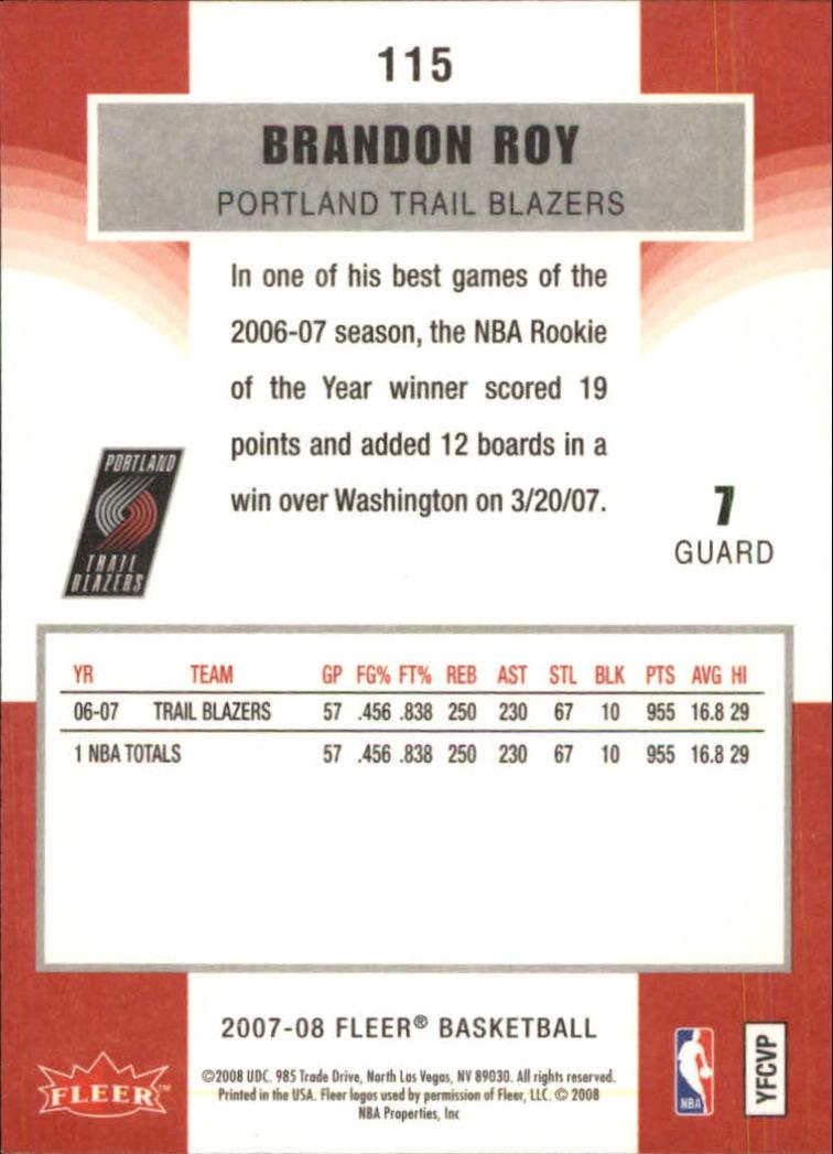 2007-08-Fleer-Basketball-1-250-Your-Choice-GOTBASEBALLCARDS thumbnail 207