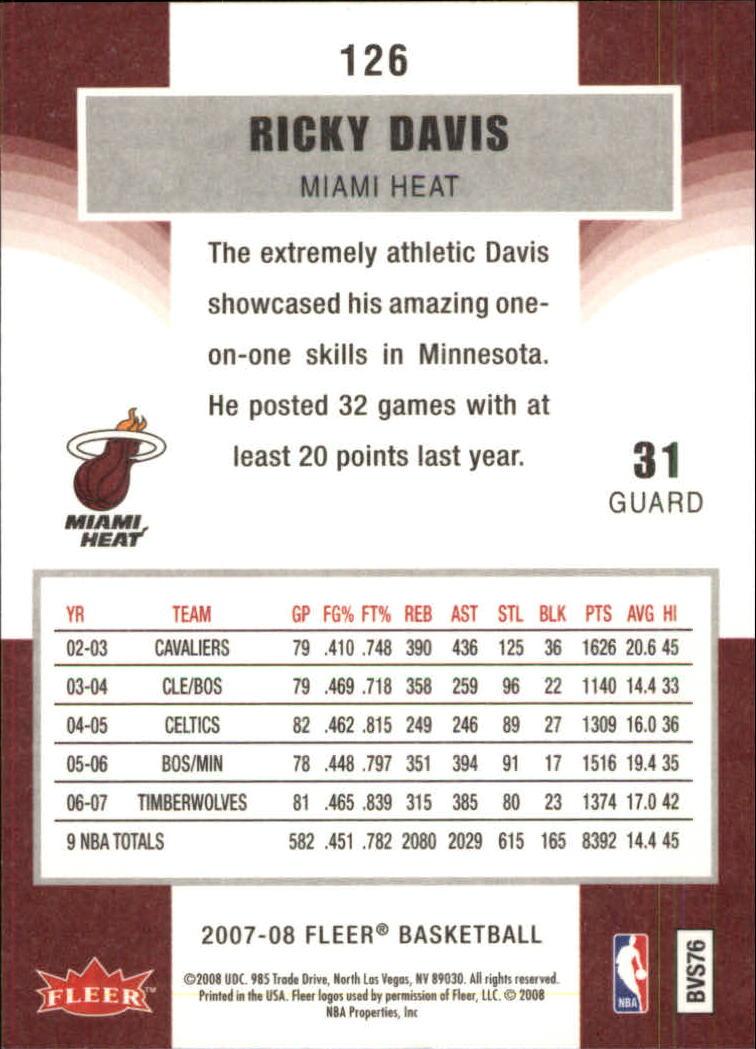 2007-08-Fleer-Basketball-1-250-Your-Choice-GOTBASEBALLCARDS thumbnail 227
