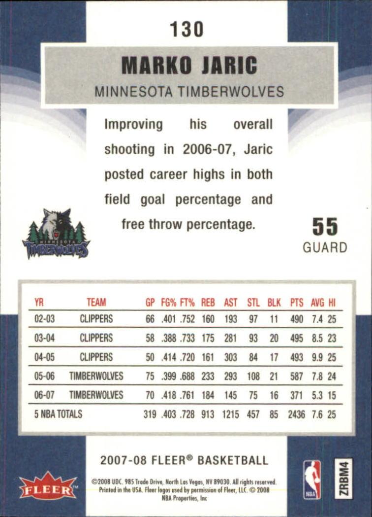2007-08-Fleer-Basketball-1-250-Your-Choice-GOTBASEBALLCARDS thumbnail 235
