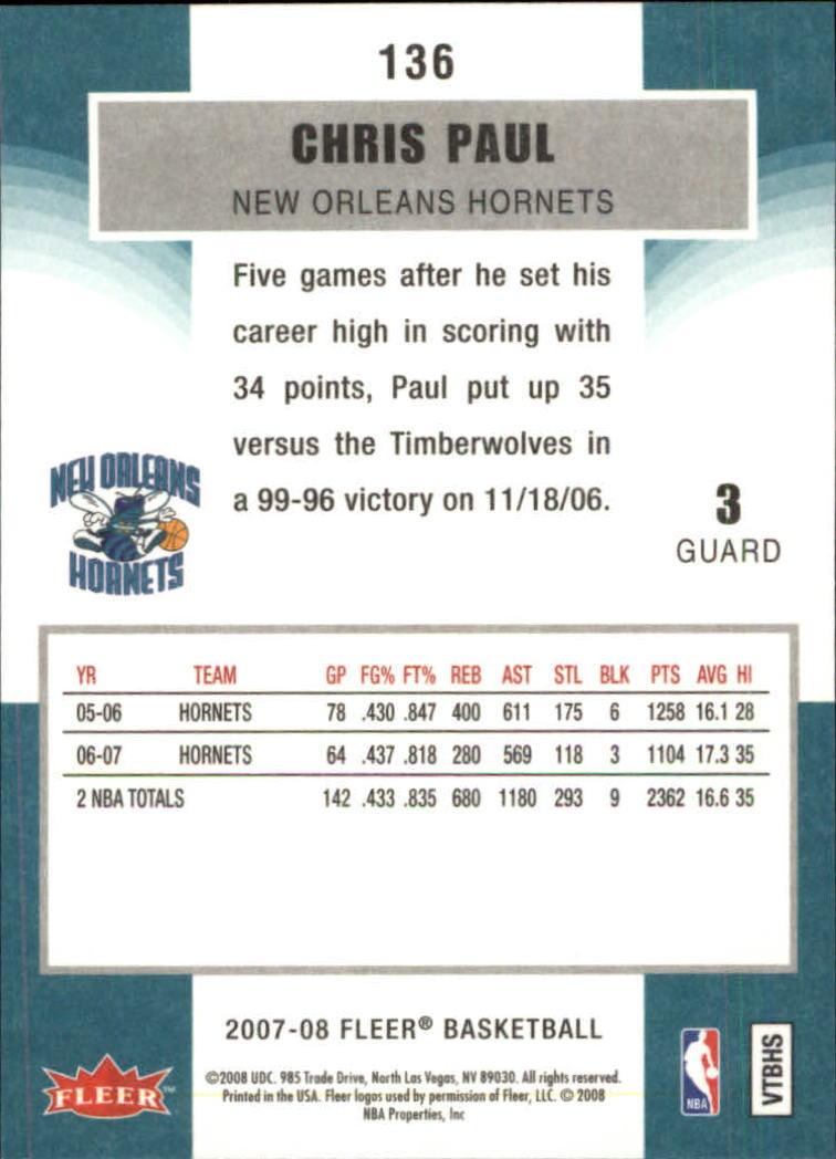 2007-08-Fleer-Basketball-1-250-Your-Choice-GOTBASEBALLCARDS thumbnail 245