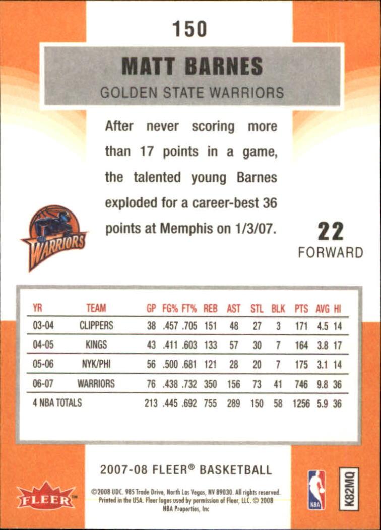 2007-08-Fleer-Basketball-1-250-Your-Choice-GOTBASEBALLCARDS thumbnail 269