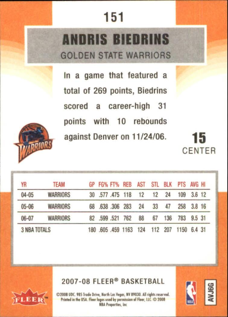 2007-08-Fleer-Basketball-1-250-Your-Choice-GOTBASEBALLCARDS thumbnail 271