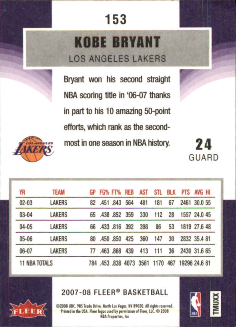 2007-08-Fleer-Basketball-1-250-Your-Choice-GOTBASEBALLCARDS thumbnail 275