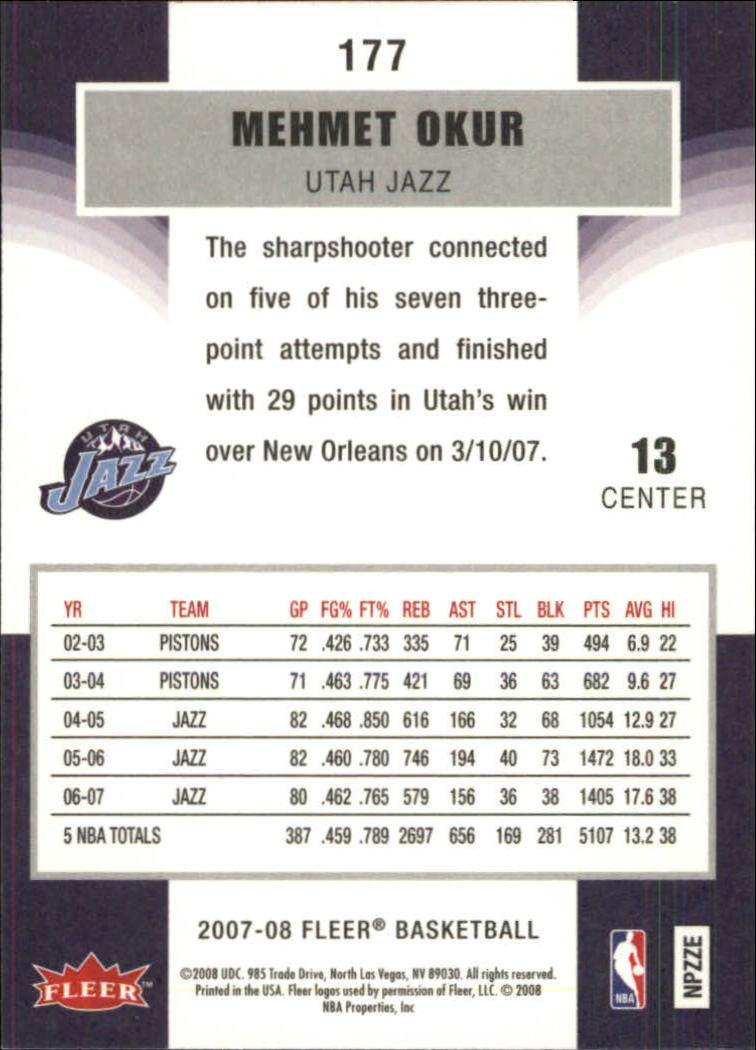 2007-08-Fleer-Basketball-1-250-Your-Choice-GOTBASEBALLCARDS thumbnail 319