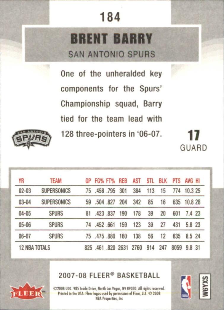 2007-08-Fleer-Basketball-1-250-Your-Choice-GOTBASEBALLCARDS thumbnail 331