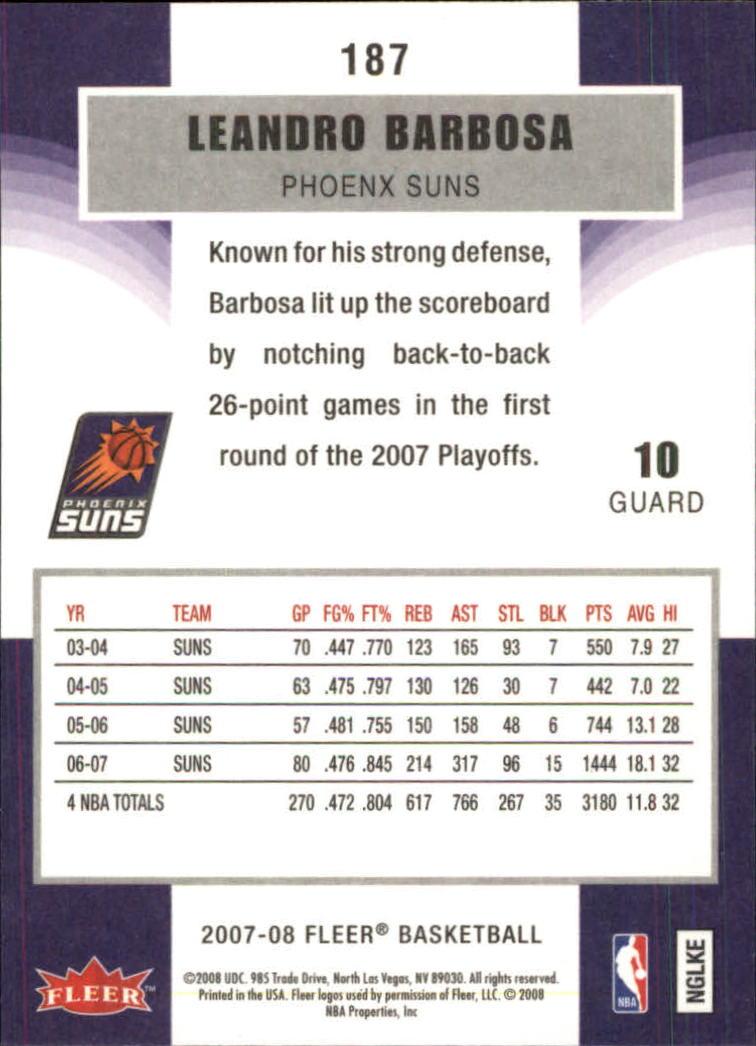 2007-08-Fleer-Basketball-1-250-Your-Choice-GOTBASEBALLCARDS thumbnail 335