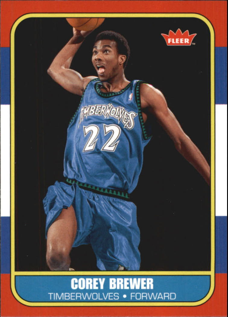 2007-08 Fleer 1986-87 Rookies #135 Corey Brewer