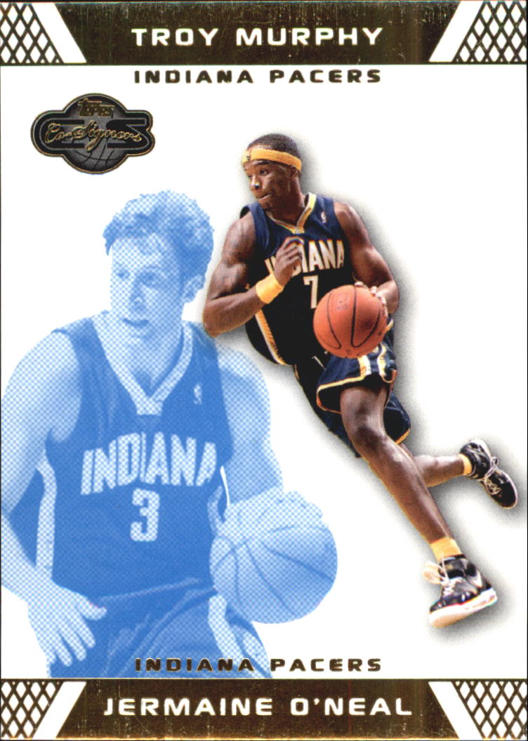 2007-08 Topps Co-Signers Gold Blue #7A Jermaine O'Neal/Troy Murphy