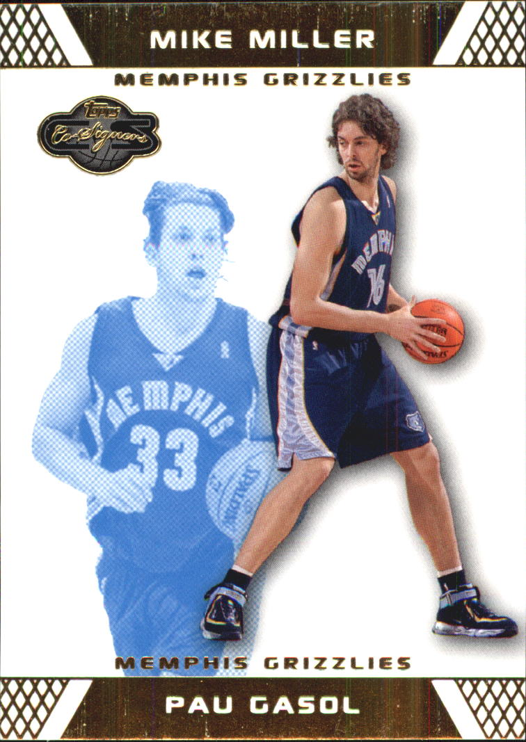 2007-08 Topps Co-Signers Gold Blue #16 Pau Gasol/Mike Miller