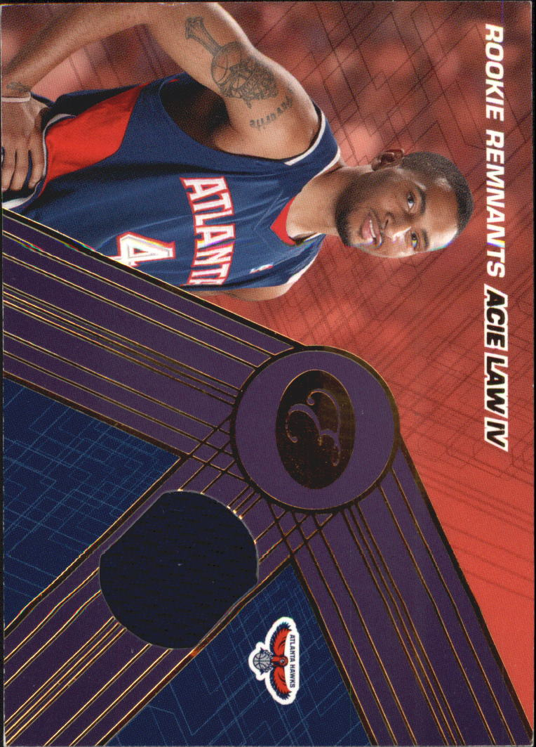 2007-08 Bowman Elevation Rookie Relics 99 #AL4 Acie Law