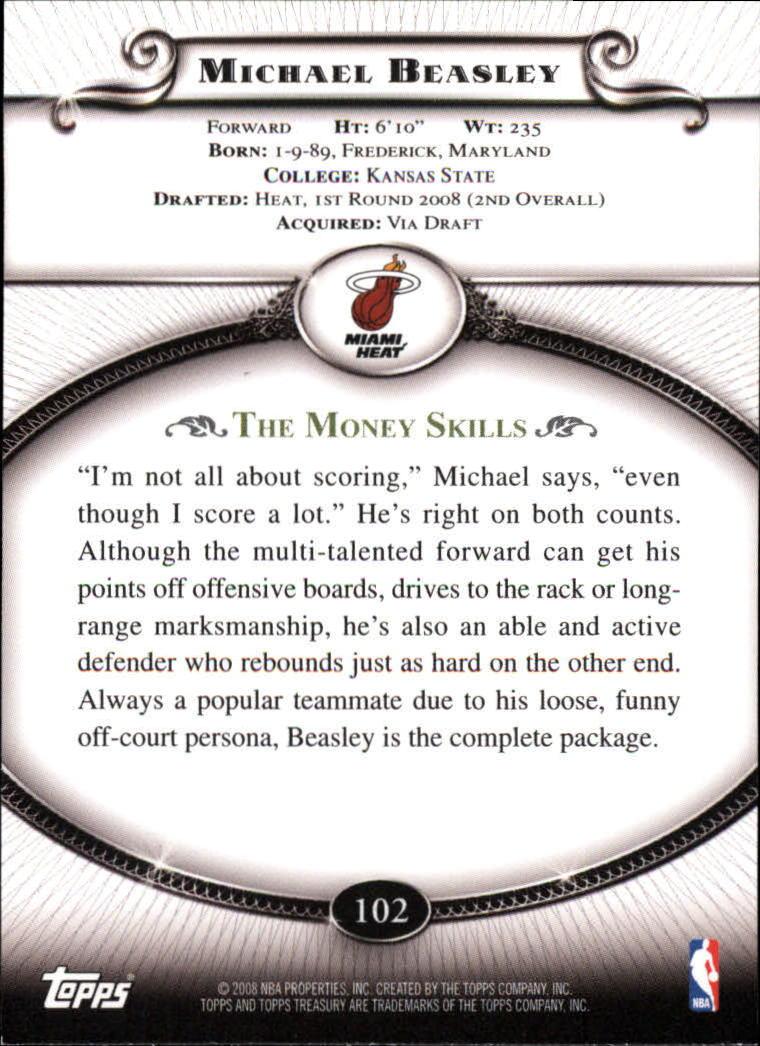 2008-09 Topps Treasury #102 Michael Beasley RC