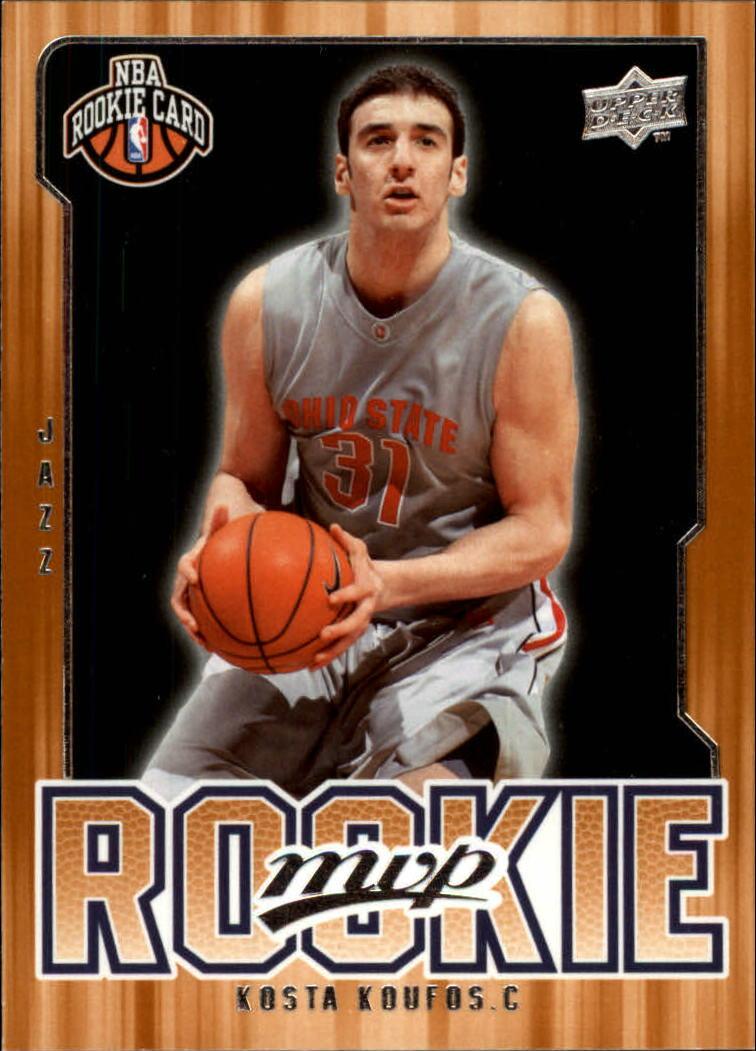 2008-09 Upper Deck MVP #221 Kosta Koufos RC