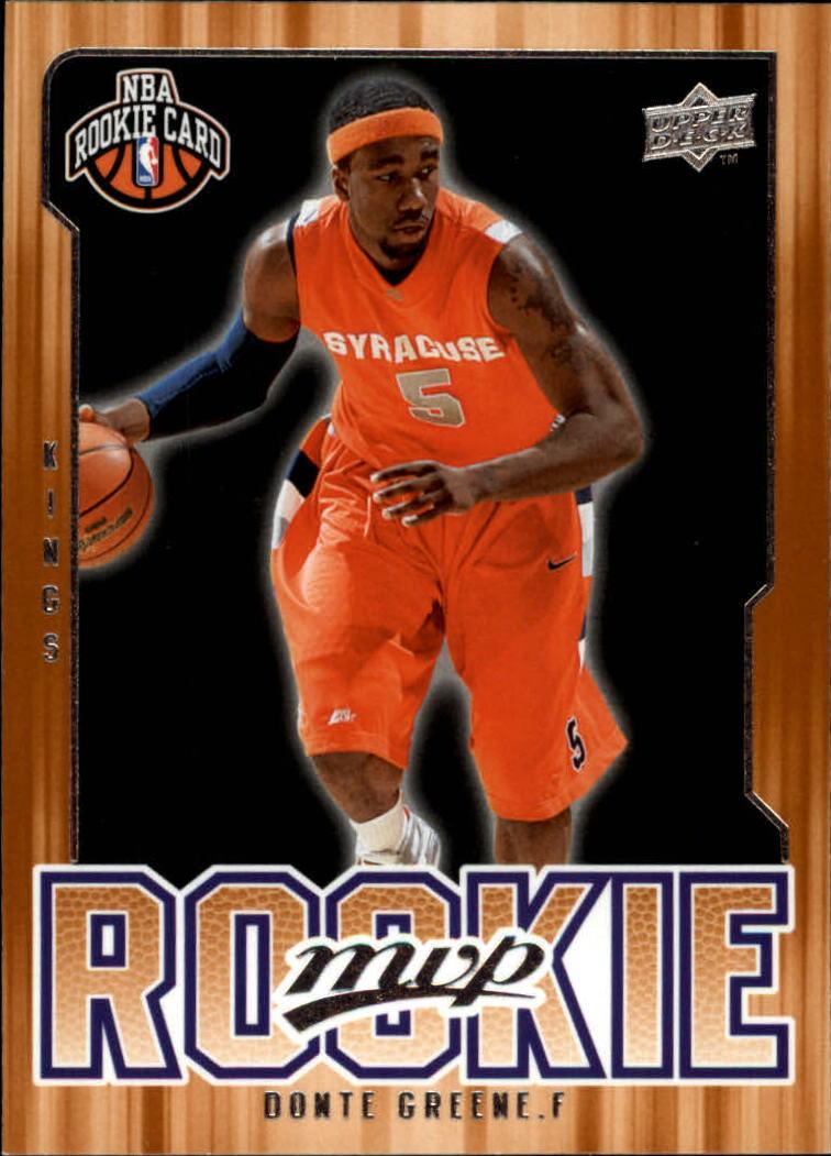 2008-09 Upper Deck MVP #224 Donte Greene RC