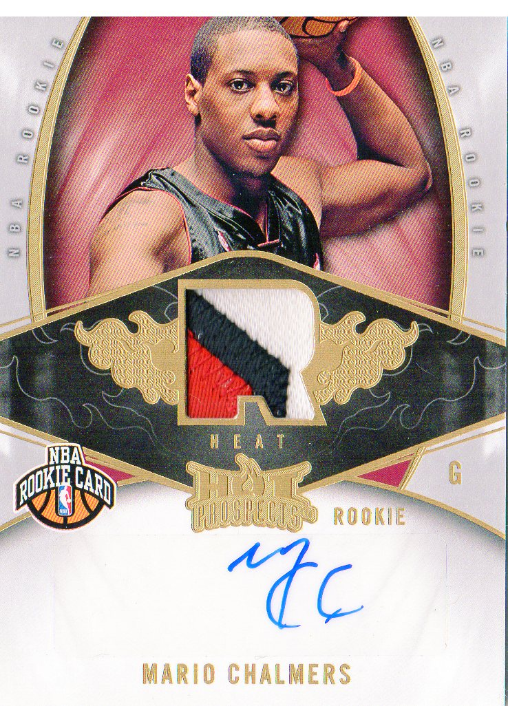 2008-09 Hot Prospects #134 Mario Chalmers JSY AU RC