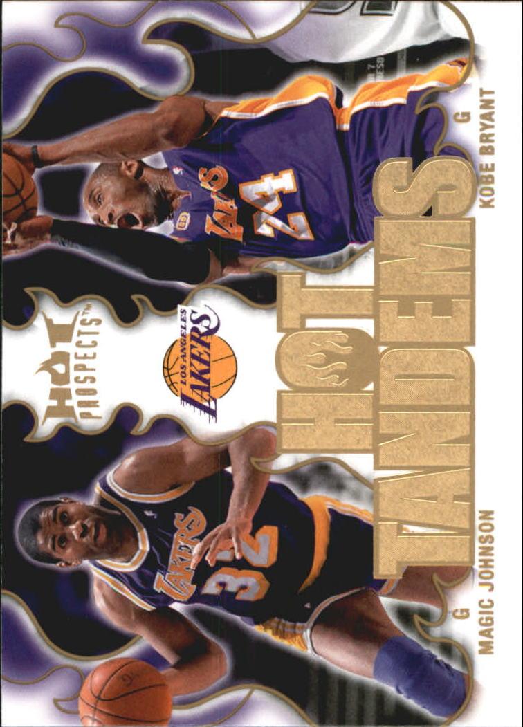 2008-09 Hot Prospects Hot Tandems #HT9 Magic Johnson/Kobe Bryant
