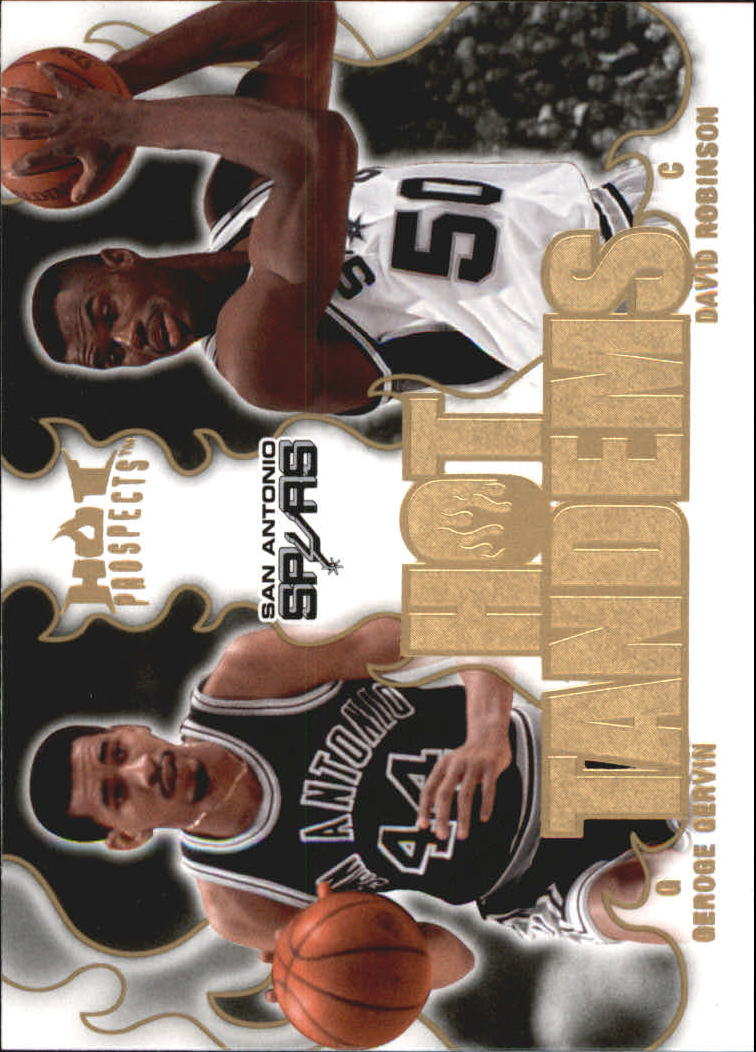 2008-09 Hot Prospects Hot Tandems #HT17 George Gervin/David Robinson