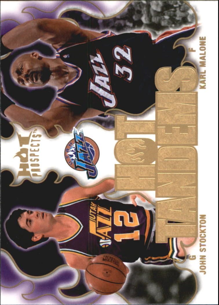 2008-09 Hot Prospects Hot Tandems #HT19 John Stockton/Karl Malone