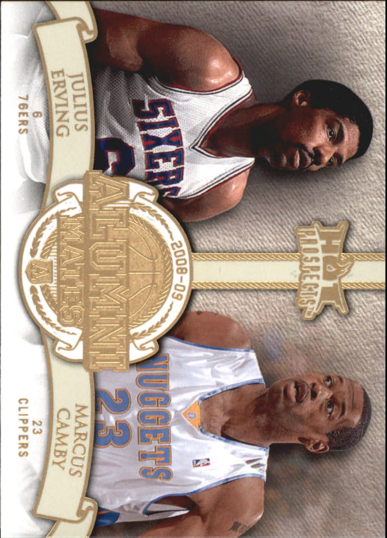 2008-09 Hot Prospects Alumni Mates #AM17 Julius Erving/Marcus Camby