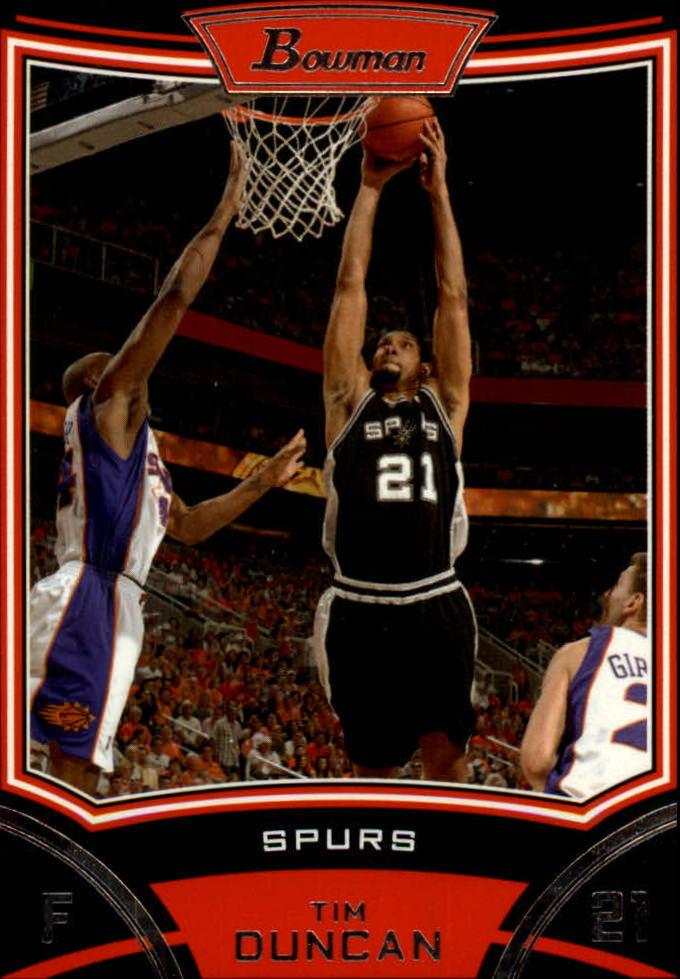 2008-09 Bowman #21 Tim Duncan