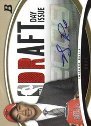 2008-09 Bowman Draft Day Issue Relics Autographs Gold #DDIADR Derrick Rose