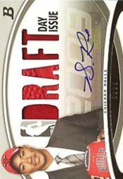2008-09 Bowman Draft Day Issue Relics Combos Autographs #DDICADR Derrick Rose