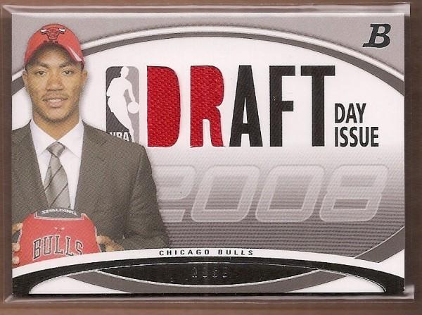 2008-09 Bowman Draft Day Issue Relics #DDIRDR Derrick Rose