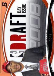 2008-09 Bowman Draft Day Issue Relics Orange #DDIRDR Derrick Rose
