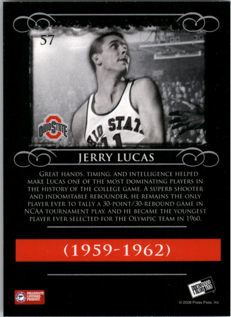 2008-09 Press Pass Legends #57 Jerry Lucas back image