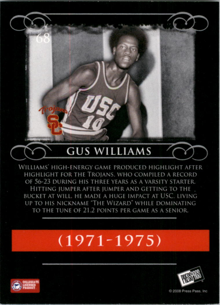 2008-09 Press Pass Legends #68 Gus Williams back image