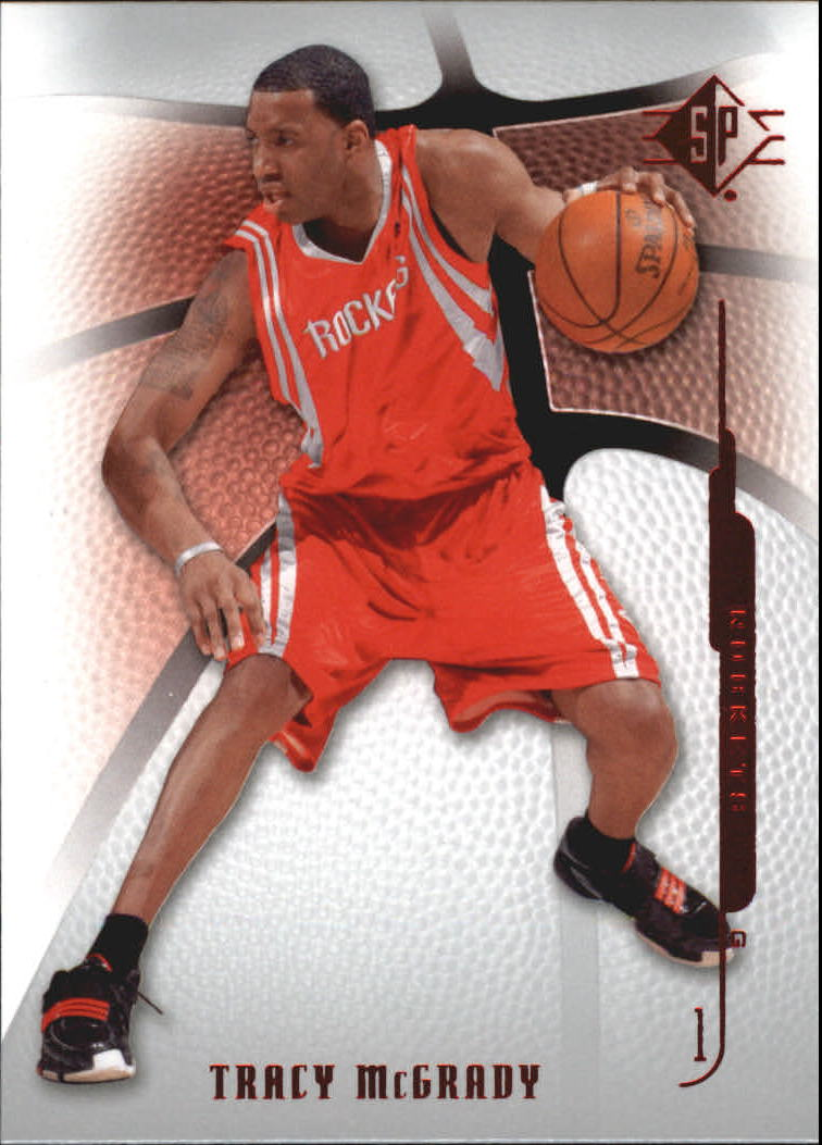 d60af0ab2290 2008-09 SP Authentic Retail Houston Rockets Basketball Card  79 Tracy  McGrady