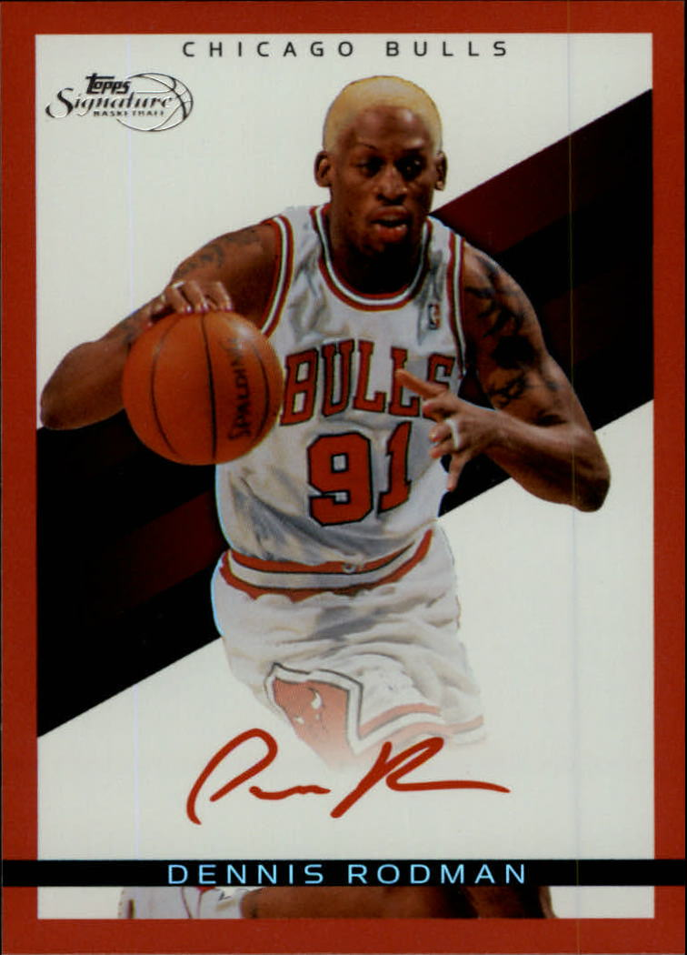 2008-09 Topps Signature Facsimile Red #TSDRD Dennis Rodman