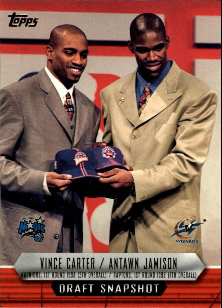 2009 10 Topps Draft Snapshot DSCJ Vince Carter Antawn Jamison NM MT