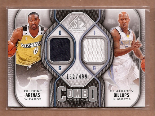 2009-10 SP Game Used Combo Materials #CMBA Chauncey Billups/Gilbert Arenas