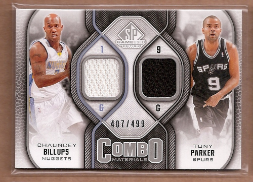2009-10 SP Game Used Combo Materials #CMBP Chauncey Billups/Tony Parker