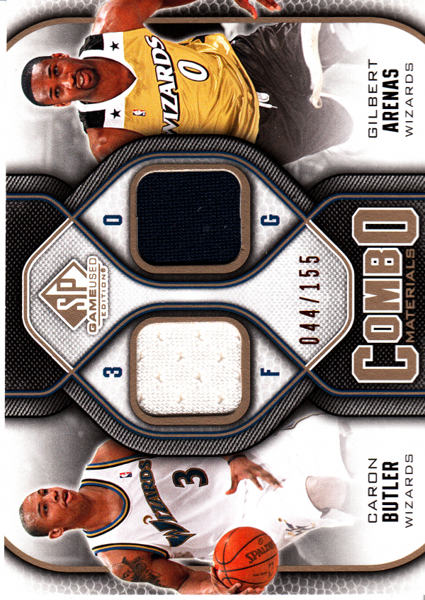 a841aeb53 2009-10 SP Game Used Combo Materials 155  CMAB Gilbert Arenas Caron Butler
