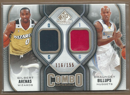 2009-10 SP Game Used Combo Materials 155 #CMBA Chauncey Billups/Gilbert Arenas