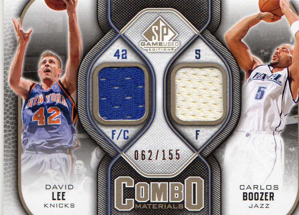 2009-10 SP Game Used Combo Materials 155 #CMBL Carlos Boozer/David Lee