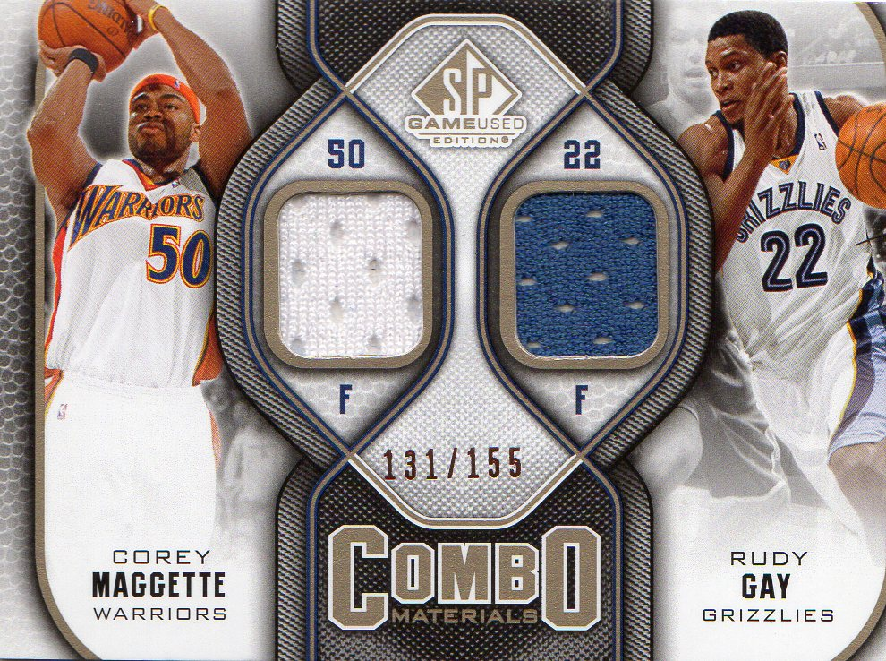 2009-10 SP Game Used Combo Materials 155 #CMCR Corey Maggette/Rudy Gay