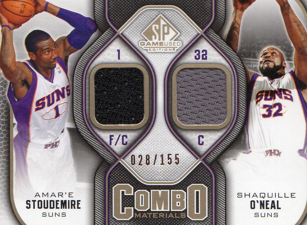 2009-10 SP Game Used Combo Materials 155 #CMSO Shaquille O'Neal/Amare Stoudemire