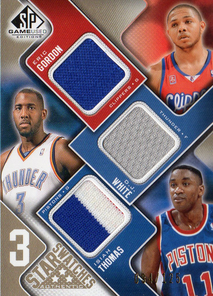 ccef6364a81b 2009-10 SP Game Used 3 Star Swatches 125  3STGW Eric Gordon Isiah