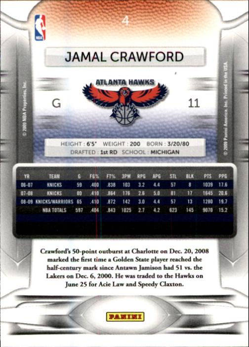 2009-10 Prestige #4 Jamal Crawford back image
