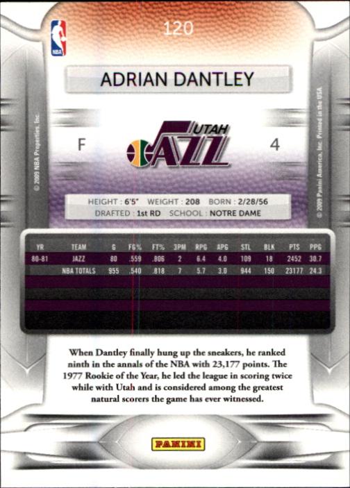 2009-10 Prestige #120 Adrian Dantley back image