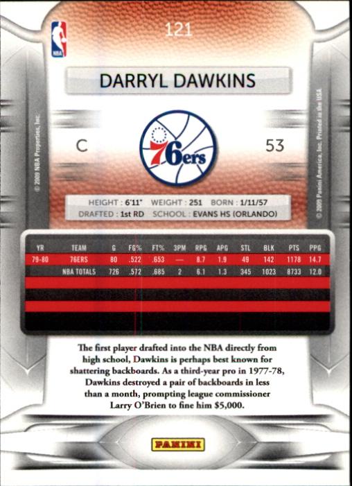 2009-10 Prestige #121 Darryl Dawkins back image