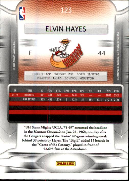 2009-10 Prestige #123 Elvin Hayes back image