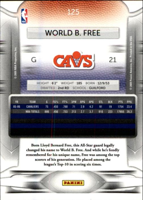 2009-10 Prestige #125 World B. Free back image